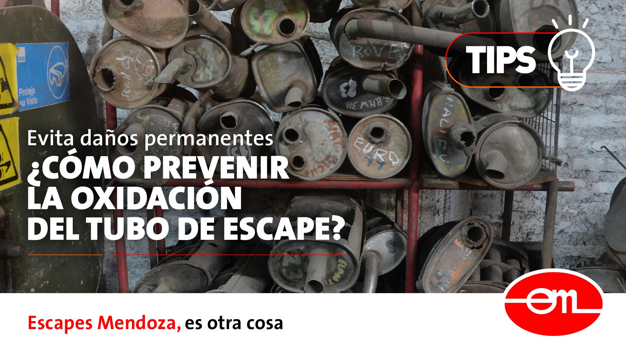 prevenir el óxido del tubo de escape